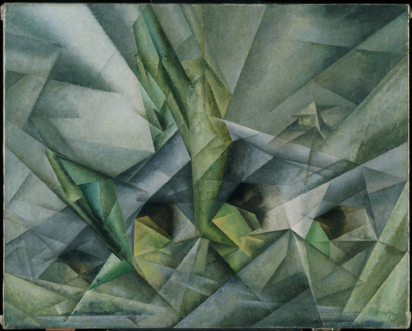 Painting: Bridge V by Lyonel Feininger